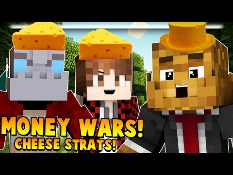 THE CHEEEEEEEEESE - Minecraft Money Wars #1 w/ BajanCanadian, Nooch & JeromeASF