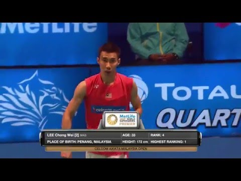 Celcom Axiata Malaysia Open 2016 | Badminton R16 M3-MS | Son Wan Ho vs Lee Chong Wei