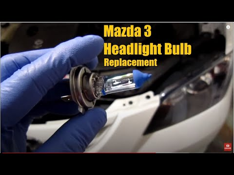 Mazda 3 Headlight bulb replacement