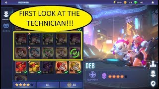 FIRST LOOK AT THE TECHNICIAN - NEW CHAMP - DHC - DUNGEON HUNTER CHAMPIONS