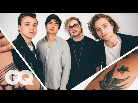 5 Seconds of Summer Break Down Their Tattoos | GQ