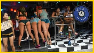 Pattaya Thailand Soi 6.  Night Girls and Ladyboys waiting for Custome.