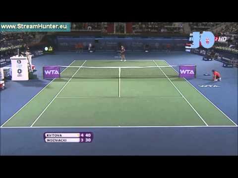 Petra Kvitova vs Caroline Wozniacki 2013 Dubai Highlights