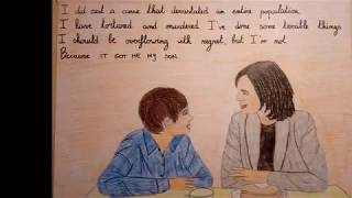 Once Upon A Time. Regina and Henry Time lapse Drawing