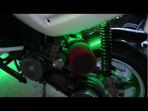 Modified 150cc gy6 scooter with Led Glow kit