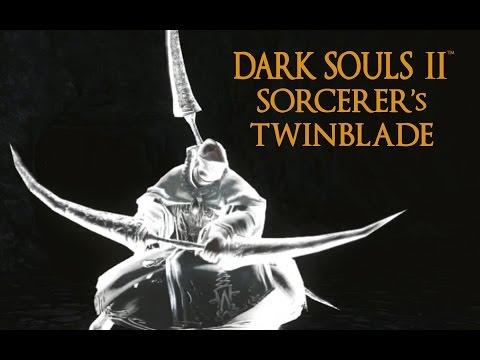 Dark Souls 2 Sorcerer's Twinblade Tutorial (dual wielding w/ power stance)