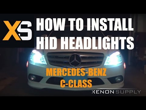 How To Install An HID Kit On Your W204 Mercedes-Benz | How To Save Money And Do It Yourself!