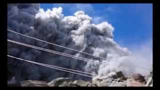 VOLCANO ERUPTION IN JAPAN  ONTAKE CLIMBERS ARE FEELING
