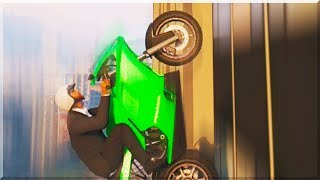 GTA 5 Funny Moments - DRIVING UP BUILDINGS - (GTA V Online Stunts & Race)