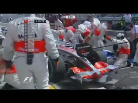 Alonso Blocks Hamilton In The Pit - Hungary 2007