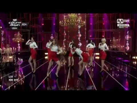 Live HD | 140710 AOA - Miniskirt & Short Hair @ MNET M! Countdown