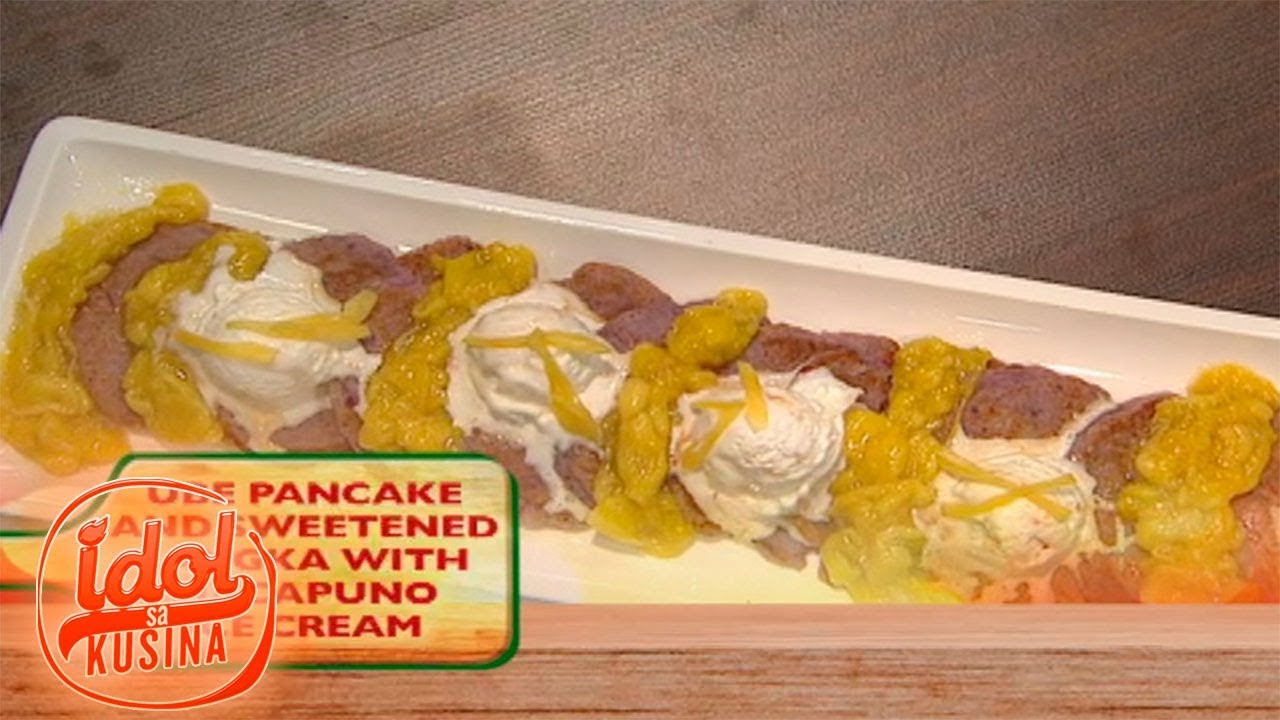 Idol sa Kusina: Ube Pancake and Sweetened Langka with Macapuno Ice Cream