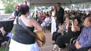 Epic Lesbian Wedding Flash Mob With Singing Bride