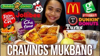 CRAVINGS MUKBANG | Eating all our food cravings in one seating!!!