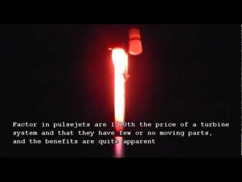 Pulsejet Engine Vertical Launch -  VTOL Pulse Jet Rocket
