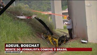 Perícia analisa causas da queda do helicóptero de Boechat