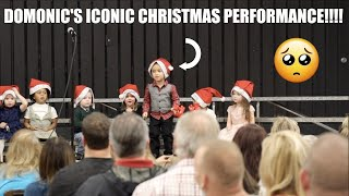 DOMONIC'S ICONIC CHRISTMAS PERFORMANCE!!!!!!