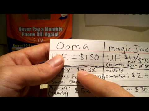magicJack (Plus) versus Ooma - Pricing
