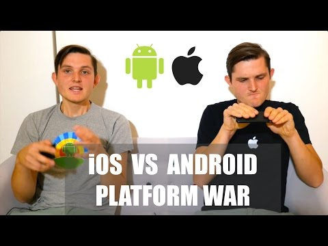 Platform War - iOS vs Android - Apple vs Google - Comparison