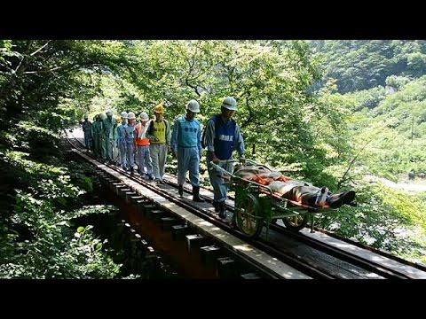 軌道リヤカーで迅速救助 立山カルデラで落石訓練 富山