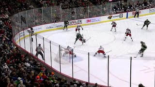 Staal and Stewart play give-and-go, Staal finishes past Bobrovsky
