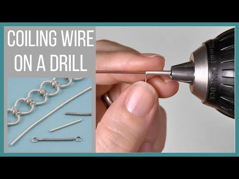 Coiling Wire on a Drill - Beaducation.com