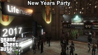 GTA 5 | New Years Eve Party With Fire Works Show | Happy New Years 2017 | Thanks For An Amazing 2016