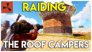 ONLINE ROCKET RAIDING RICH ROOF CAMPERS! - Rust