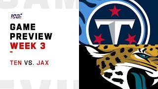 Tennessee Titans vs. Jacksonville Jaguars Week 3 NFL Game Preview