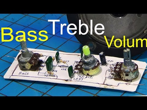 Bass treble circuit, how to make bass treble circuit amplifier using simple resistors