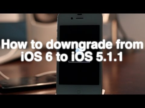 How to Downgrade iOS 6 to iOS 5.1.1 EASILY