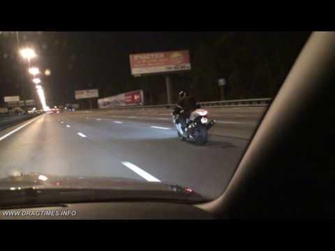 (HD) Nissan GTR vs Kawasaki ZX-14 Video