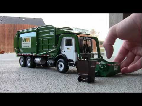 First Gear 1:34 Scale Model Front-Load Garbage Truck