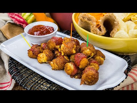 Bacon-Wrapped Cheesy Tater Tots with BBK Sauce - Home & Family thumbnail