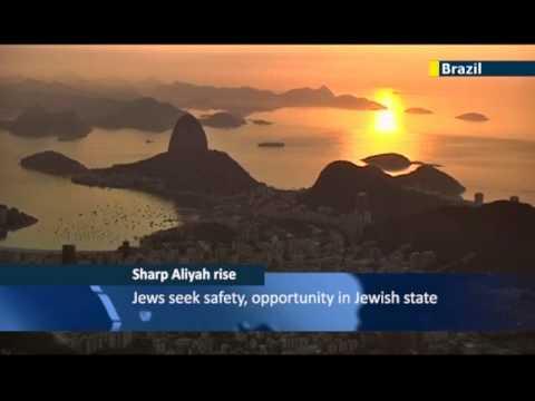Brazilian Jewish community looks to Israel: record numbers of Brazilian Jews make Aliyah