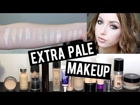 13 FOUNDATIONS FOR SUPER PALE / VERY FAIR SKIN & SWATCHES   Makeup That's Too Light for Me!