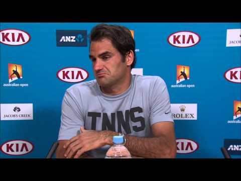Roger Federer press conference (3R) - Australian Open 2015