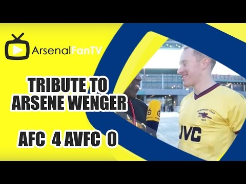 Tribute To Arsene Wenger | Arsenal 4 Aston Villa 0 | FA Cup Final