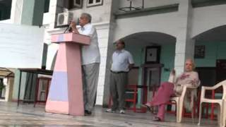Morning Assembly Addressed by Jayprakashji Chouksey  Writer and Film Critic