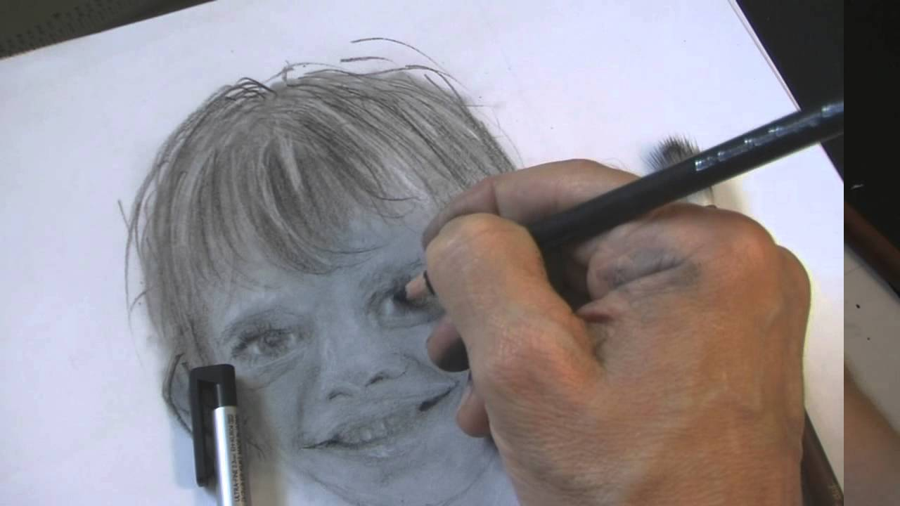 Child Drawing Realistic Child's Face Drawing