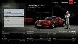 Gran Turismo 6 Like the Wind! Max Speed Test in an Aston Martin One-77!' 11! 300+ MILES IIN CAR!