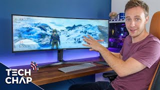 "Samsung SUPER UltraWide Monitor Unboxing! [43"" 32:10 120hz] 