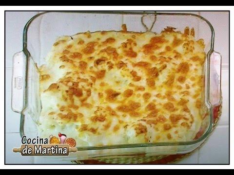 Coliflor al horno con bechamel  Recetas de cocina   Cocina de Martina