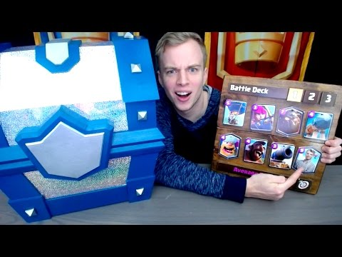 REAL LIFE LEGENDARY CHEST & BATTLE DECK! Clash Royale Chest Opening