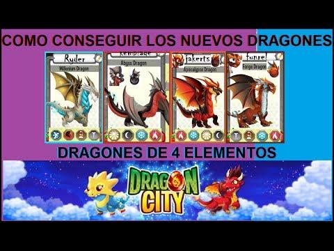DRAGON CITY COMO CONSEGUIR LOS NUEVOS DRAGONES DE 4 ELEMENTOS MAYO