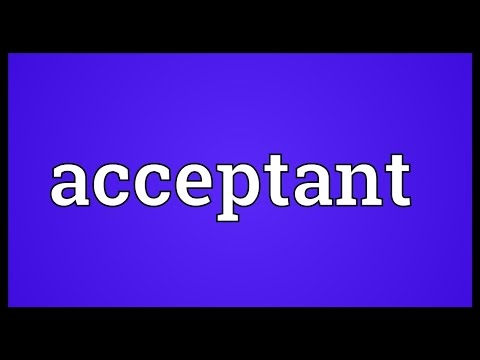 Header of acceptant
