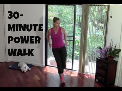 Indoor Walking Exercise   Full Length 30 Minute Power Walk  Fat Burning, Walking Workout