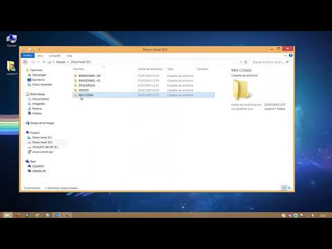 Compartir carpetas y archivos en red a través de tu router en Windows 8