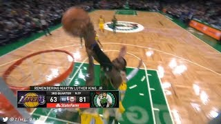 Jaylen Brown dunking all over LeBron James but without TNT's terrible call