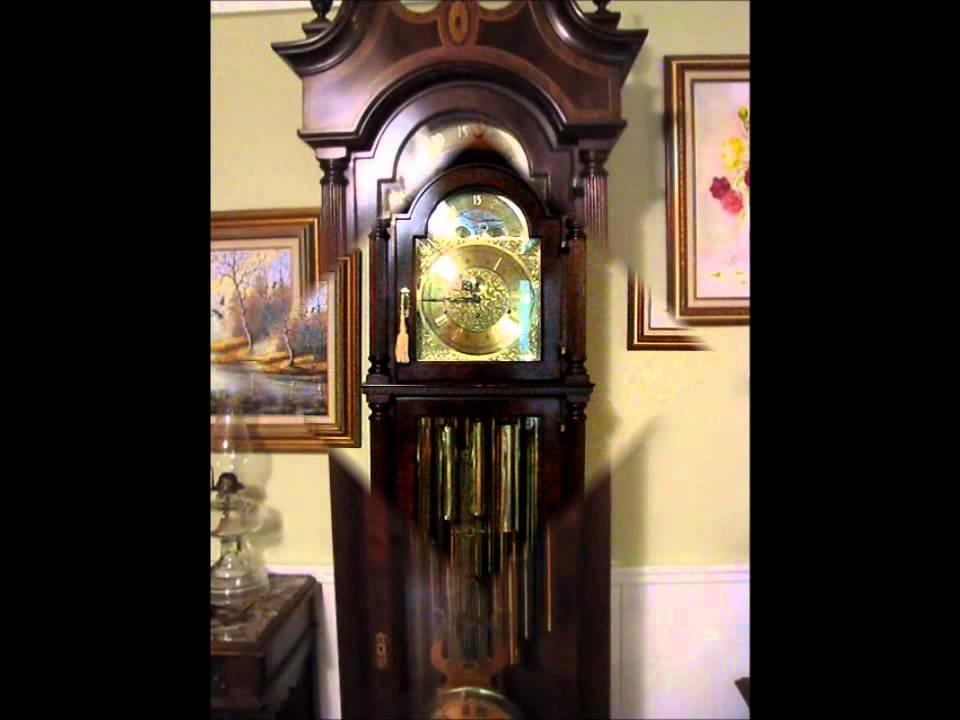 Sligh 1880 1980 Centennial Grandfather Clock 9 Tubular